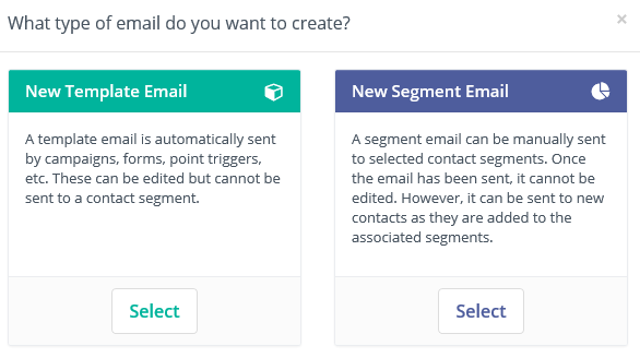 select email type