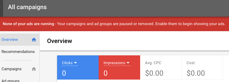 Google Adwords free acccount