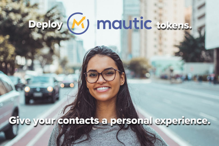 Mautic tokens are personal