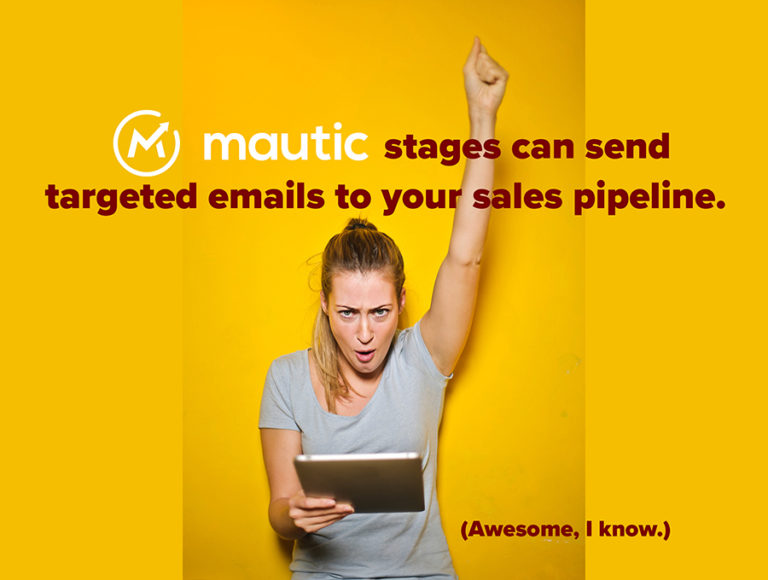 mautic stages automate pipeline marketing