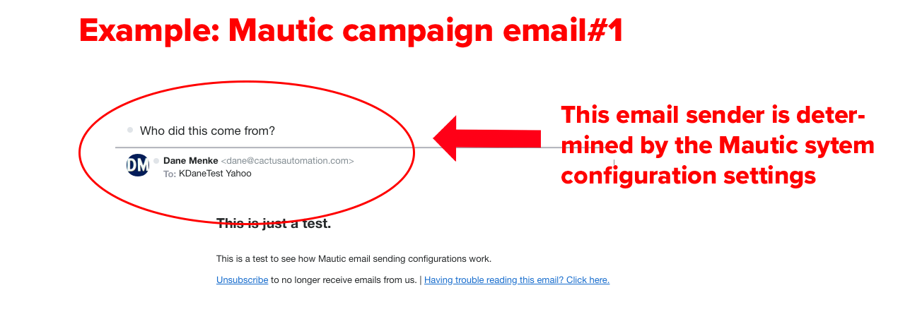 example mautic campaign