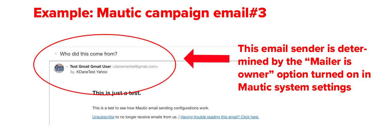 example Mautic campaign email