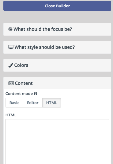 How to create an exit intent pop-up form using Mautic focus items